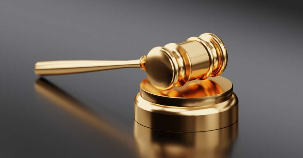 image of a gold gavel