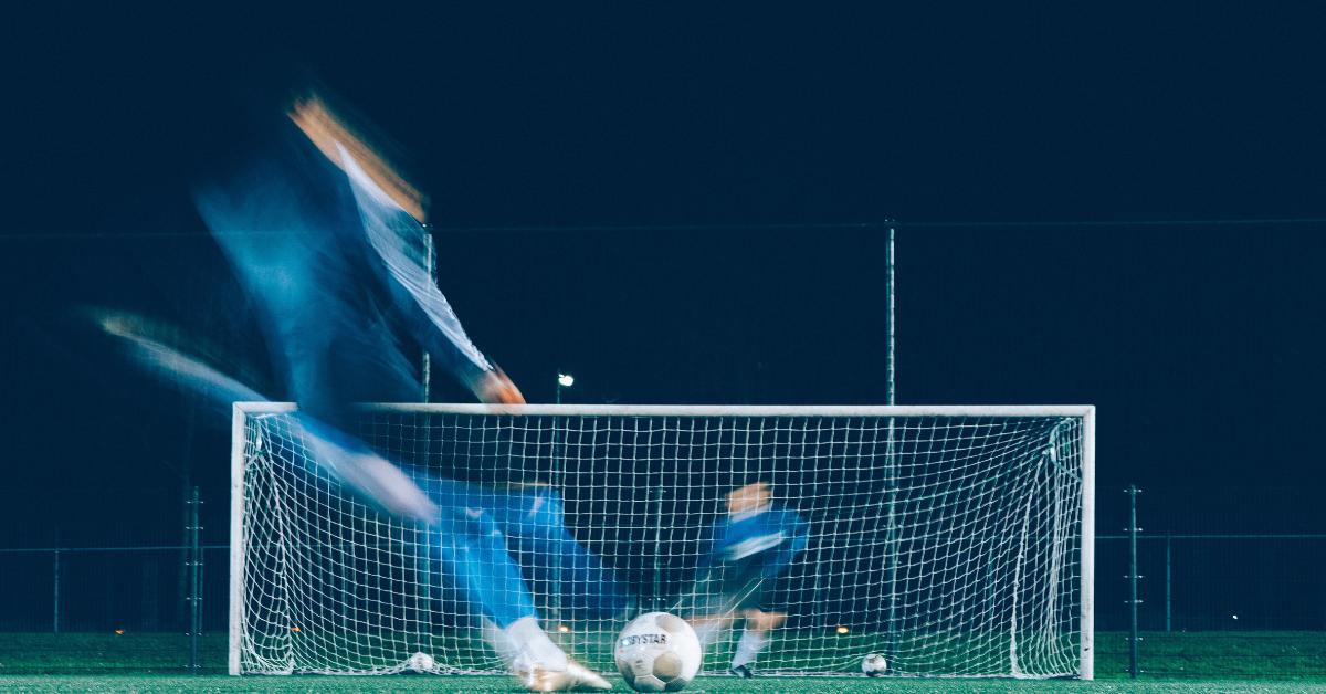 Image of a footballer taking a penalty kick